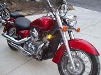 For Sale Fire Engine Red 2008 Honda Shadow Aero VT