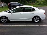 Low-Mileage Automatic 2008 White Honda Civic EX for