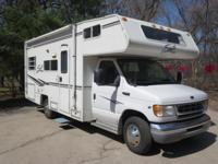 This is a 24 ft 2002 Shasta Sprite Class C Motorhome