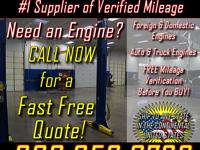 Low Mileage Engines - Used Engines the Right Way! When