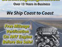 Low Mileage Engines - Foreign & Domestic ANY Year,