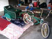 I HAVE A LOW RIDER BIKE FOR SALE IT IS CANDY APPLE