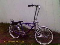 Hello. I have a purple low-rider bike for sale. I'm