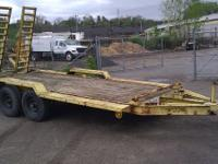 Very Solid Tandem Axle Equipment Trailer.Under 10,000
