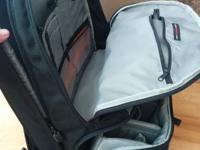 Lowepro camera backpack has many pockets for storage