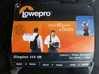 For Sale is a Lowepro Slingshot 350 AW Camera bag. This