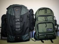 Large camera backpack in like new condition. Priced