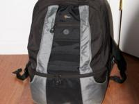 Lowepro CompuDaypack, black and gray. About 8 years