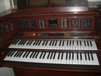 LOWERY MX2 ORGAN beautyful  instrument cherry wood as
