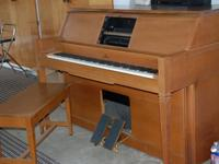 Lowery Player Piano with bench and 23 Music rolls in