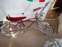 CUSTOM LOWRIDER BIKE WITH CUSTOM PIN STRIPE, CHROME