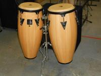 "LP Aspire 10"" & 11"" Wood Conga Set with Stand"
