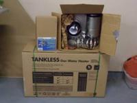 Up for sale is this brand new Rheem tankless hot water