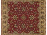 This Square Rug is Decorated with an Intricate