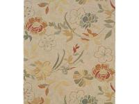 Bold Tropical Flowers and Leaves Cover this Rug in