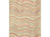 The Vibrance area rug is hand tufted in India of 100%