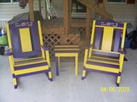 I have a set of Cypress rockers and table for sale.