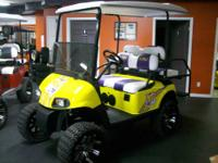 Check out our all new designed LSU Themed Golf Cart.