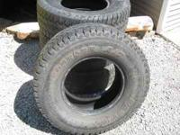 4 MasterCraft Courser A/T tires. Load range D. Have a