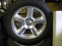 4 LTZ rims with tires.  Location: Glou.