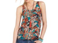 A jungle-leaf print makes this Lucky Brand Jeans tank a