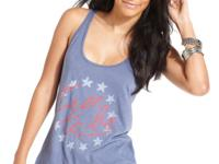 A cool play on Americana, this Lucky Brand Jeans tank