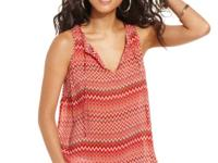 Allover zigzag stripes add a boho appeal to this Lucky