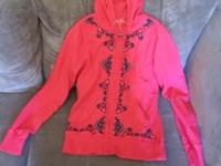 Nice zip front long-sleeved Ladies hoodie by Lucky
