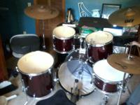 Ludwig Accent Concert Series Combo Drum Kit - Red. 1