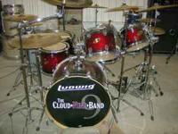 Ludwig Accent CS custom CHERRY BURST SPARKLE, six piece