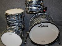 Ludwig Classic Maple Fab 4 Shell Pack L8004 Black