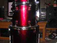 ludwig used drum set,cherie wine size snare(steel)