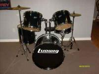 Like NEW.....Ludwig Drum Set with wood shells and a