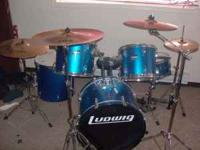 Ludwig 5 piece drum set with Zildian Symbols .Also