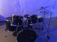 Ludwig drum set with all new heads also includes