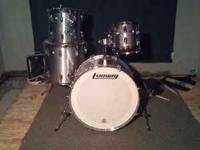 1985 LUDWIG ROCKER PRO IN SILVER FINISH WITH MODULAR