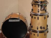 Ludwig 5 pc maple drum kit. natural maple with gloss