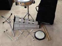 Up for sale is a Ludwig Student Percussion kit that