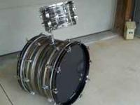 "Vintage Ludwig Standard Drums. 22"" base drum & 12"" tom."