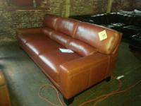 Luke Cognac Leather Sofa Reg. $1899 *** Our Price $899