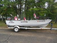 1983 Lund Pro Angler with 50 hp mariner with 2 gas