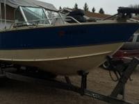 1986 Lund baron 21 foot with a 2001 efi mercury 200 hp,