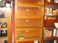 Lundstrom, Walnut Barrister Bookcase-- 5 Heap high ...