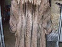 LUXURIOUS TANUKI RACCOON NATURAL FINE FUR COAT MADE BY