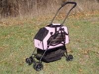 -LIKE NEW Name Brand Pet Stroller w/ball berring-smooth