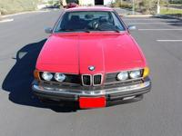 Luxury Sports 1986 BMW 635 CSI CoupeVIN