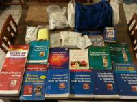 Total set of LVN program books, blue bag, and 1 set of