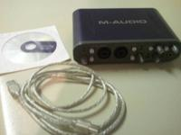 24-bit/96kHz audio interface with dual mic/instrument