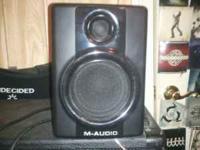 I have a pair of M-Audio AV40 Studio Monitors...Great