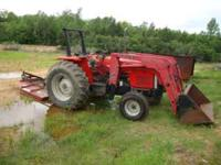 This is a Low hour M-F 383 Tractor comes with Front End